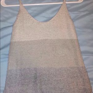 Grey knit sweater tank top, size small